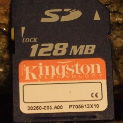 Kingston 128MB SD
