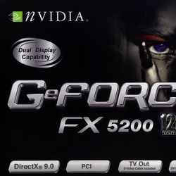 nVidia GeForce FX5200 PCI video card.
