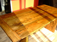 Custom built table from David Persolja.